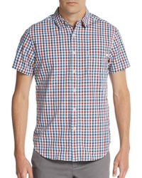 Life After Denim Fishing Gingham-Print Cotton Sportshirt - Lyst