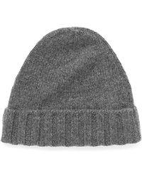 Incotex Cashmere Rib Knit Beanie - Lyst