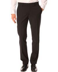 Celio Club Fcoplane Black Suit Trousers - Lyst