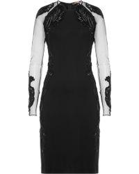 Roberto Cavalli | Embellished Dress - Black | Lyst