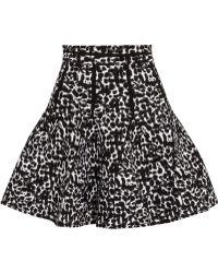 Antonio Berardi Pleated Leopard-Print Intarsia Mini Skirt - Lyst