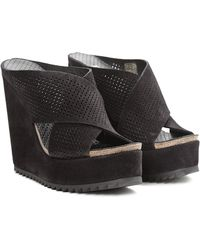 Pedro Garcia Tibby Perforated Wedge - Lyst