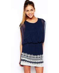 TFNC Roxy Dress with Embellished Hem - Lyst