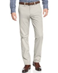 Kenneth Cole Reaction Flat Front Slim-fit Chino Pants - Lyst