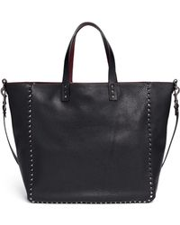 Valentino 'Rockstud' Reversible Leather Tote - Lyst
