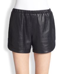 Tess Giberson - Perforated Leather Shorts - Lyst