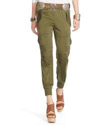 Polo Ralph Lauren Silk Military Cargo Pant - Green