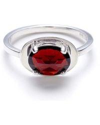 Anna Sheffield Classic Amulet Ring - Garnet - Lyst
