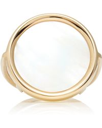 Ginette Ny Mother Of Pearl Disc Ring - Lyst