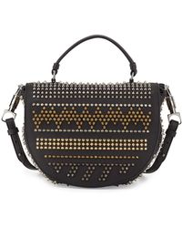 Christian Louboutin Panettone Spiked Chevron Messenger Bag - Lyst