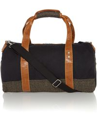 Original Penguin - Canvas and Tweed Holdall - Lyst