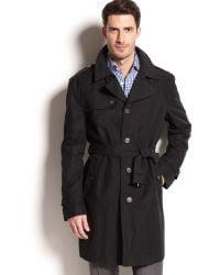 b57830c3 Lauren By Ralph Lauren Black Singlebreasted Trench Coat