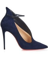 Christian Louboutin Vampydoly Suede Pumps - Blue