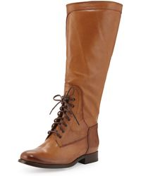 COACH Melissa Lace-up Riding Boot - Black