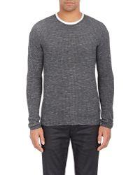 John Varvatos | Waffle-knit Sweater | Lyst