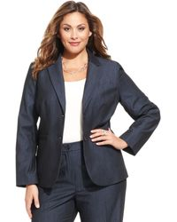 Jones New York Collection Plus Size Olivia Twobutton Blazer - Lyst
