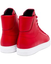 Versus Leather High-top Trainers - Red