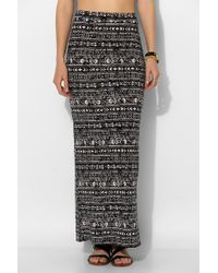 Sparkle & Fade - Geoprint Knit Maxi Skirt - Lyst