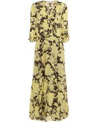 Paul & Joe Umako Floral Print Silk Maxi Dress - Lyst