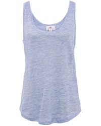 AG Adriano Goldschmied Linen Vest Top - Lyst