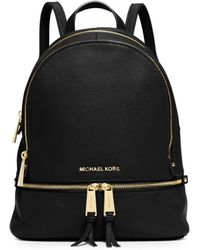 Michael Kors Rhea Small Leather Backpack - Lyst