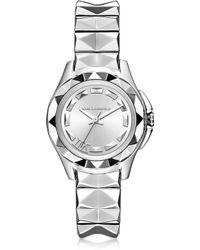Karl Lagerfeld Karl 7 30Mm Silver Ip Stainless Steel Women'S Watch silver - Lyst