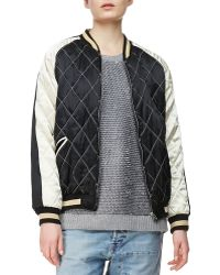 McQ by Alexander McQueen Quilted Bomber Jacket - Lyst