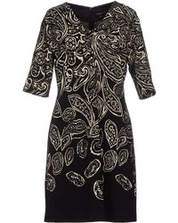 Etro Short Dress black - Lyst