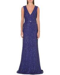 Elie Saab Floorlength Sequin Embellished Gown Black - Lyst