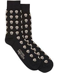 Alexander McQueen - Skull Mid-calf Socks - Lyst