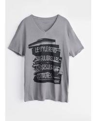 Zadig & Voltaire Man T Shirt Terak Print - Lyst
