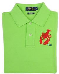 Ralph Lauren Blue Label Lime Green Embroidered Lobster Polo Shirt - Lyst
