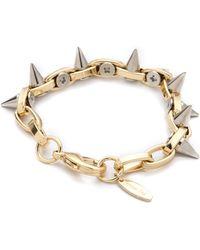 Joomi Lim - Metal Luxe Spike Bracelet - Gold/silver - Lyst