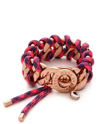 Marc By Marc Jacobs Corded Katie Bracelet Pink Multi - Lyst