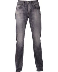 Hudson Gray Straight Jeans - Lyst