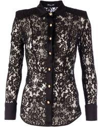 Balmain Lace Shirt - Lyst