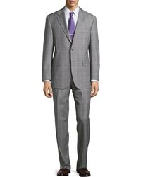 Hickey Freeman Lindsey Two-Piece Plaid Suit - Lyst