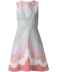 Valentino Colorblocked Mini Dress - Lyst