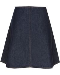See By Chloé Aline Denim Skirt - Lyst