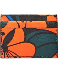Marni Floral Leather Card Wallet - Multicolour