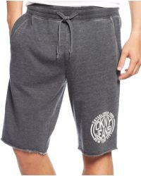 DKNY Burnout Logo Shorts - Lyst