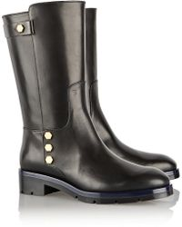 Tod's Studembellished Leather Boots - Lyst