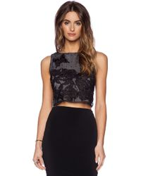 Alice + Olivia Gray Amal Top - Lyst