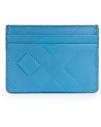 Burberry | Sandon Check-embossed Leather Card Case | Lyst