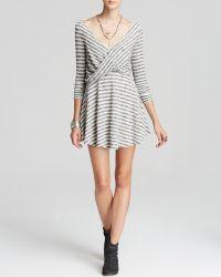 Free People Dress - Striped Knit Maverick - Lyst