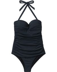 Heidi Klein Ravello Ruched Bandeau Control Swimsuit - Lyst
