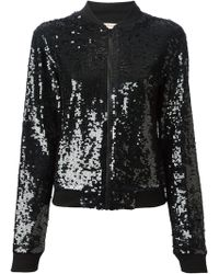 P.a.r.o.s.h. Black Sequin Jacket - Lyst