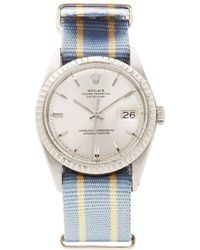 CMT Fine Watch And Jewelry Advisors Vintage Rolex Datejust with Blue and White Striped Nato