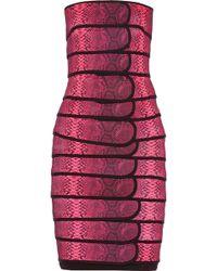 Christopher Kane Snake-Print Bandage Dress - Lyst