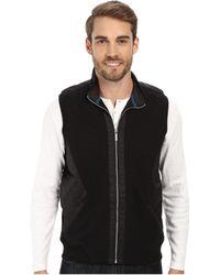 Calvin Klein Mix Media Pique Fleece Sweatshirt - Lyst